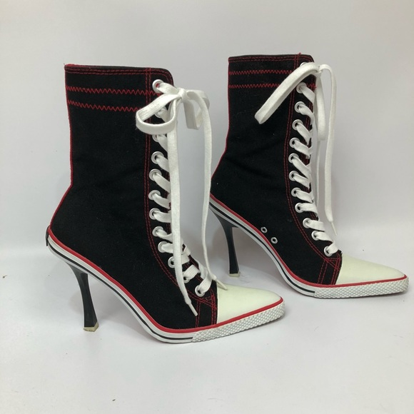 51e6d309d75d25 Splash Trendy High Heeled High Top Tennis Shoes. M 5b3ebfd2d6dc522537369415